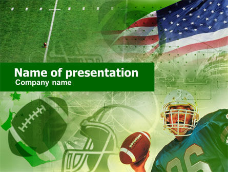 Sports: American National Sports PowerPoint Template #00505