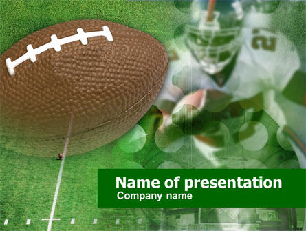 Sports: American National Football League PowerPoint Template #00506