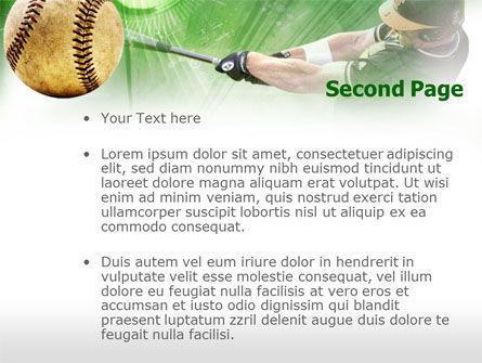 Baseball Hit PowerPoint Template Backgrounds – Baseball Powerpoint Template