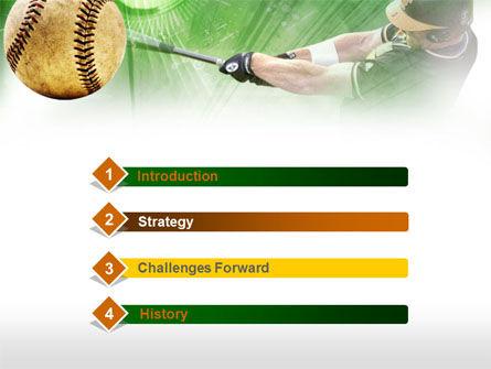 Baseball Hit PowerPoint Template Slide 3