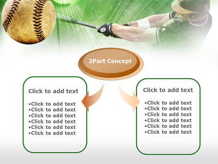 Baseball Hit PowerPoint Template, Slide 4, 00507, Sports — PoweredTemplate.com