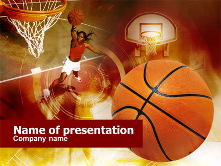 Women's Basketball PowerPoint Template, 00508, Sports — PoweredTemplate.com