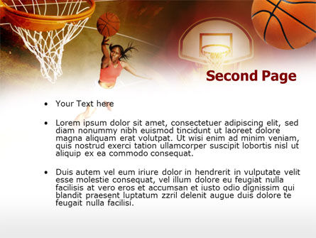 Women's Basketball PowerPoint Template, Slide 2, 00508, Sports — PoweredTemplate.com