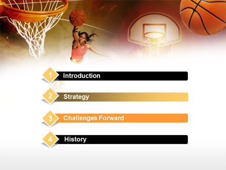 Women's Basketball PowerPoint Template, Slide 3, 00508, Sports — PoweredTemplate.com