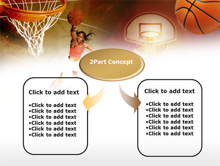 Women's Basketball PowerPoint Template, Slide 4, 00508, Sports — PoweredTemplate.com