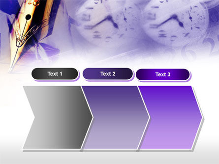 Fountain Pen On The Light Violet PowerPoint Template Slide 16