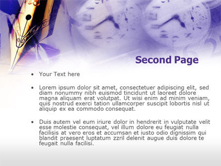 Fountain Pen On The Light Violet PowerPoint Template Slide 2