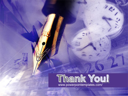 Fountain Pen On The Light Violet PowerPoint Template Slide 20