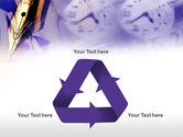 Fountain Pen On The Light Violet PowerPoint Template#10