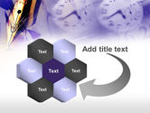 Fountain Pen On The Light Violet PowerPoint Template#11
