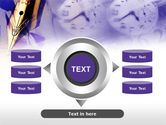 Fountain Pen On The Light Violet PowerPoint Template#12