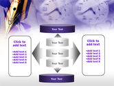 Fountain Pen On The Light Violet PowerPoint Template#13
