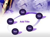 Fountain Pen On The Light Violet PowerPoint Template#14