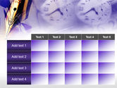 Fountain Pen On The Light Violet PowerPoint Template#15