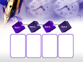 Fountain Pen On The Light Violet PowerPoint Template#18