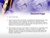 Fountain Pen On The Light Violet PowerPoint Template#2