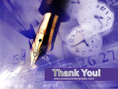 Fountain Pen On The Light Violet PowerPoint Template#20