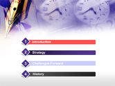 Fountain Pen On The Light Violet PowerPoint Template#3