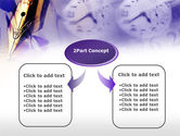 Fountain Pen On The Light Violet PowerPoint Template#4