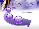 Fountain Pen On The Light Violet PowerPoint Template#6