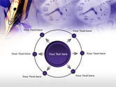 Fountain Pen On The Light Violet PowerPoint Template#7