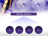 Fountain Pen On The Light Violet PowerPoint Template#8