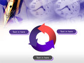 Fountain Pen On The Light Violet PowerPoint Template#9