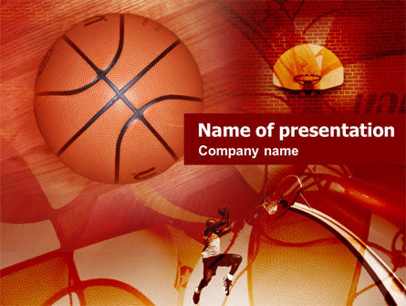 Sports: Dunking PowerPoint Template #00510