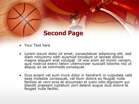 Dunking PowerPoint Template Slide 2
