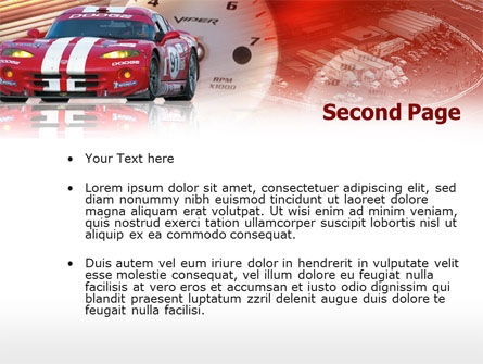 Speed Racer PowerPoint Template Slide 2