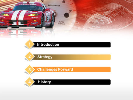 Speed Racer PowerPoint Template Slide 3