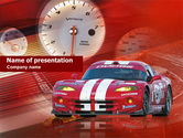 Sports: Speed Racer PowerPoint Template #00511