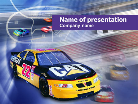 Sports: Racing Car PowerPoint Template #00512
