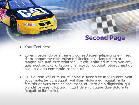 Racing Car PowerPoint Template, Slide 2, 00512, Sports — PoweredTemplate.com