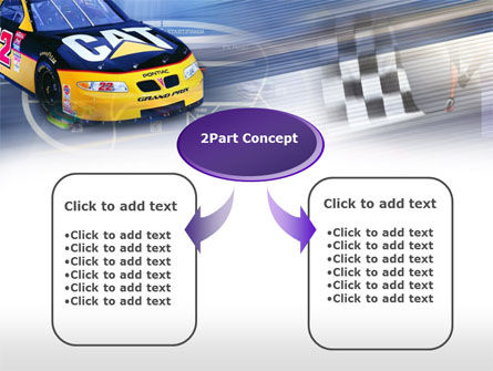 Racing Car PowerPoint Template, Slide 4, 00512, Sports — PoweredTemplate.com