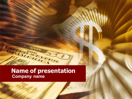 Dollar Investment PowerPoint Template, 00516, Financial/Accounting — PoweredTemplate.com