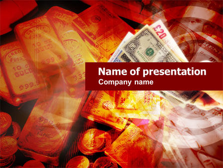 Financial/Accounting: Gold Investment PowerPoint Template #00517