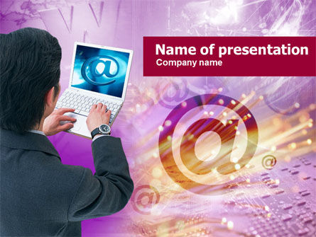 Internet User Free PowerPoint Template, 00518, Telecommunication — PoweredTemplate.com