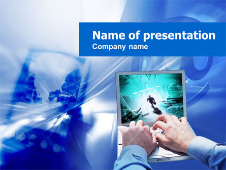 Telecommunication: Plantilla de PowerPoint - acceso a internet #00519