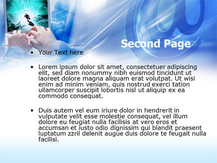 Internet Access PowerPoint Template, Slide 2, 00519, Telecommunication — PoweredTemplate.com