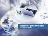 Technology and Science: Laptop Using PowerPoint Template #00521