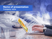 Telecommunication: Working In The Net PowerPoint Template #00522