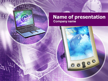 Technology and Science: Internet Devices PowerPoint Template #00523
