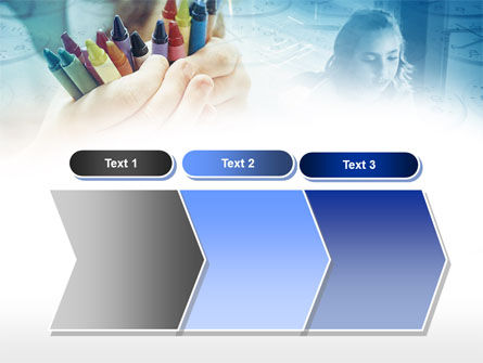 Crayons in Hands PowerPoint Template Slide 16