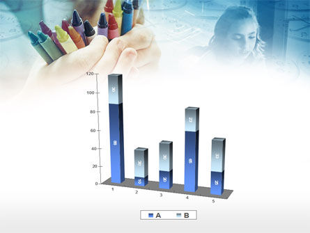 Crayons in Hands PowerPoint Template Slide 17