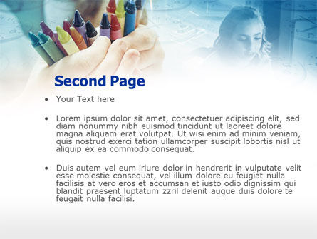 Crayons in Hands PowerPoint Template Slide 2