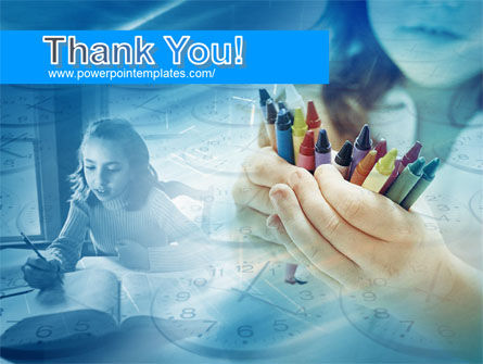Crayons in Hands PowerPoint Template Slide 20