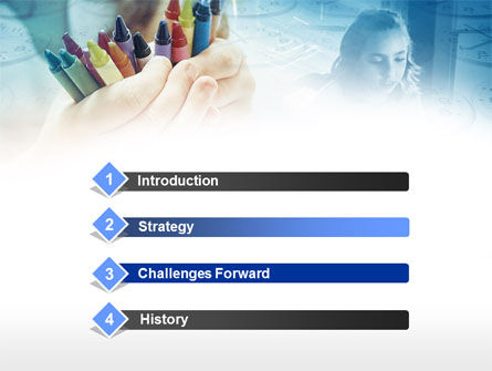 Crayons in Hands PowerPoint Template Slide 3