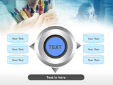 Crayons in Hands PowerPoint Template#12