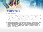 Crayons in Hands PowerPoint Template#2